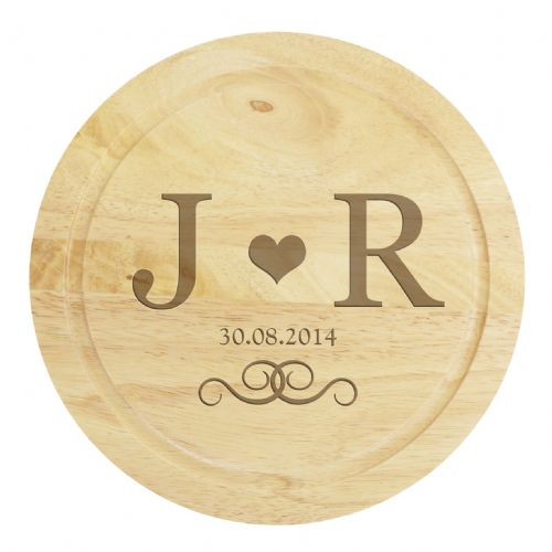Personalised Chopping Board with Cheese Knives